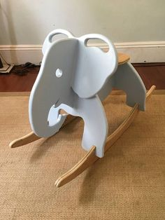 Hand Crafted Elephant Rocker Hand Crafted Elephant Rocker Bernhard Stromer bernhardstromin Holz-Ideen This elegant handmade elephant rocker is the perfectly adorable addition to any nbsp hellip Cnc Projects, Woodworking Projects, Woodworking Classes, Woodworking Plans, Oak Plywood, Cnc Wood, Wood Nursery, Nursery Ideas, Kids Wood