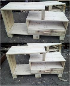 The Best and Easiest DIY Ideas with Recycled Wood Pallets: Let's give your dream home the feel of reality by showing you out with some of the mesmerizing and charming ideas of the old shipping wooden pallets. Pallet Couch, Wooden Pallet Furniture, Wooden Pallets, Pallet Tv, Pallet Crafts, Pallet Projects, Pallet Ideas, Headboard Shapes, Rough Wood