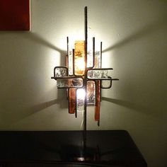 Brutalist Metal and Glass Sconces for Poliarte, Italy circa 1965 | From a unique collection of antique and modern wall lights and sconces at https://www.1stdibs.com/furniture/lighting/sconces-wall-lights/