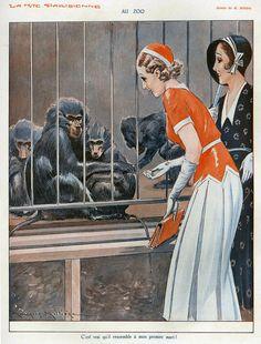 La Vie Parisienne  1931 - Maurice Milliere  http://www.pinterest.com/adisavoiaditrev/