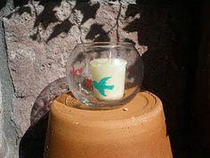 dove candle cup