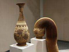Chinese artist Li Hongbo - corrugated paper objects