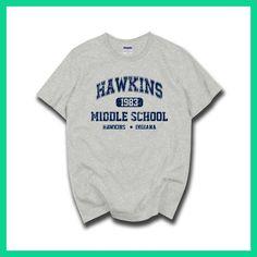 c8456995e STRANGER THINGS Hawkins High School short sleeve t shirts tee tshirts 100%  cotton jersey joggers