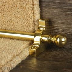 Beautiful stair rods, heavy carpet trims and innovative carpet accessories. Stair Runner Rods, Stair Rods, Stair Runners, Cottage Stairs, Stair Storage, Carpet Stairs, Hallway Decorating, Carpet Runner, Polished Brass