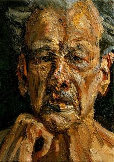 Lucian Freud - Self Portrait; Reflection, 2004. Oil on canvas