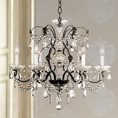 Schonbek Madison Collection Six Light Crystal Chandelier - #50087 | LampsPlus.com
