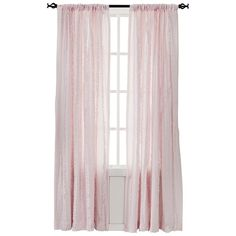 Simply Shabby Chic Vertical Ruffle Window Panel (54x84 ($25) ❤ liked on Polyvore