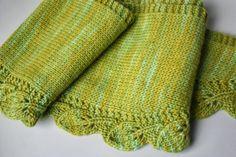 Pretty scarf in spring colour