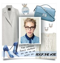 """Rock the Vote"" by anja-m ❤ liked on Polyvore featuring Fendi, H&M, Theory and Marc Jacobs"
