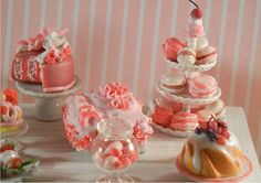 Gorgeous pink party treats.