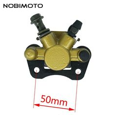 New High Performance 50 mm Gold Disc Brakes Front Brake Calipers Clamp Lower Pump Motorcycle Parts For ATV Dirt Pit Bike DS-144