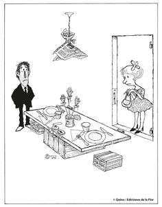 La aventura de comer/Quino Funny Cartoons, Funny Comics, Humor Grafico, Best Funny Pictures, Playing Cards, Ink, Memes, Anime, Death