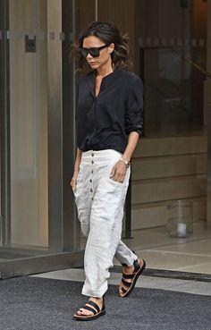 Victoria Beckham se baja de los tacones