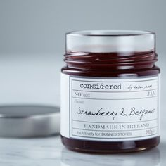 Made in small batches in Co. Wexford, Ireland, this strawberry jam from Considered by Helen James is infused with the beautiful fragrant notes of bergamot Wexford Ireland, Artisan Food, Earl Grey Tea, Strawberry Jam, Bergamot, Popsicles, Icecream, Irish, Ireland