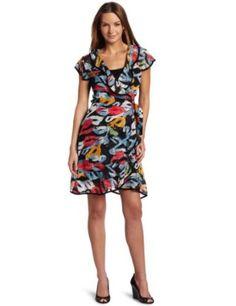 Tiana B Womens The Waterfall Chiffon Dress