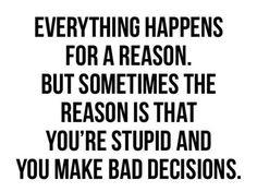 Stupid stupid stupid!!!