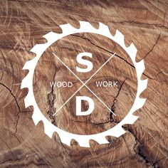 Logo design. Woodworking logo.