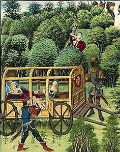 Une nourrice noire Hisoire de Renaud de Montauban, Flandre (Bruges), vers 1470Paris, Arsenal, manuscrit 5072, fol. 6v.