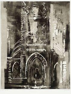 Artwork page for 'Église de Vernon, Normandy', John Piper, 1972 Nocturne, Gcse Art Sketchbook, Vernon, Urbane Kunst, A Level Art, Environmental Art, Urban Landscape, Art And Architecture, Urban Art