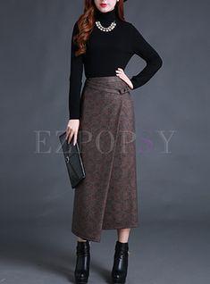 Vintage Slit Asymmetrical Slim Skirt Shop Vintage Slit Asymmetrical Slim Skirt at EZPOPSY. Vintage Rock, Skirt Fashion, Fashion Outfits, Womens Fashion, A Line Skirt Outfits, Kleidung Design, Cheap Maxi Dresses, Chiffon Maxi Dress, Western Dresses