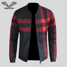 Patchwork Casual Long Sleeve Male Jacket Fashionable & Durable Jacket for Men Item Type: Outerwear & Coats Outerwear Type: Jackets Style: Casual Closure Mens Leather Coats, Clothes Stand, Plaid Fashion, Kurta Designs, Jacket Style, Mens Sweatshirts, Bomber Jacket, Men Casual, Men's Jackets