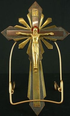 Antique Art Deco Crucifix