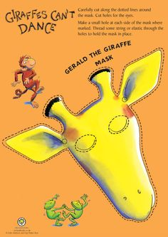 Giraffes Can't Dance by Giles Andreae -- color and cut out ...