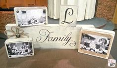 family photo block that great for gift giving, crafts, painting, tools, reupholster