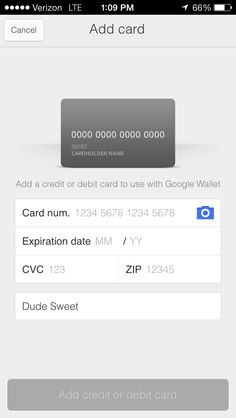 The Anatomy Of A Credit Card Form  Simple User Experience And We