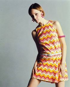 Sixties — Mademoiselle magazine 1967.  PICTURE ONE:  Model...