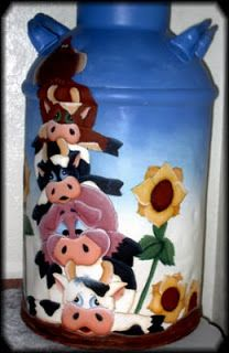 jusbcuz-patterns-gifts: 4 Painting tips for Antique Milk Cans+Hobby+Crafts