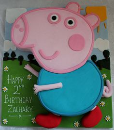 George the pig birthday cake!! :-)
