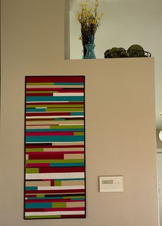 Great bold colors. Love this wall hanging.