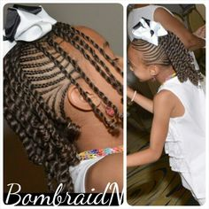 Kids braids and twists Lil Girl Hairstyles, Natural Hairstyles For Kids, Kids Braided Hairstyles, Princess Hairstyles, Natural Hair Styles, Kids Hairstyle, Children Hairstyles, Protective Hairstyles, Protective Styles