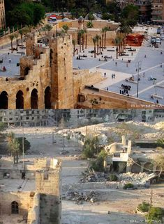 Aleppo Before And After, Brunei, Aleppo City, Sri Lanka, Syrian Civil War, Belle Villa, Laos, Before And After Pictures, Destruction