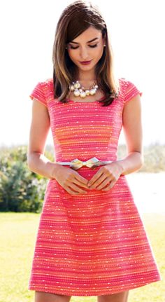 pink & orange stripes - Lilly Pulitzer Spring 2013