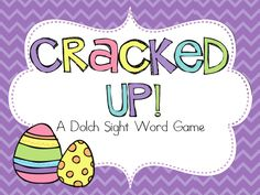 Cracked Up - A Dolch Sight Word Game for pre-primer, primer, and first grade words. Oh, and it's FREE!