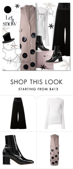 """""""SPORTMAX, Clan Necklace"""" by deneve ❤ liked on Polyvore featuring Ter Et Bantine, Rick Owens, Valentino, MSGM, Sportmax and winterfashion"""