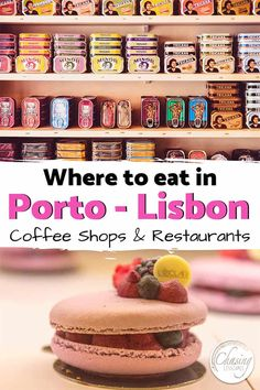 Check out our Porto and Lisbon Foodies Guide if you want to know what to eat in Portugal and where to eat in Porto and Lisbon. Portugal Travel Guide, Europe Travel Guide, Travel Destinations, Travel Guides, Travelling Europe, Travel Info, Travel Abroad, Budget Travel, Best Coffee Shop