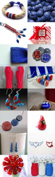 Blue vs. Red by Maya on Etsy--Pinned with TreasuryPin.com