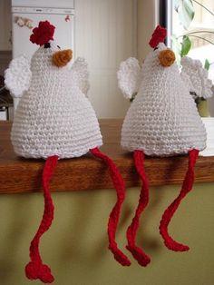 Virkade hönor Crochet Home, Diy Crochet, Stick O, Easter Crochet, Afghan Crochet Patterns, Textiles, Creative Activities, Some Ideas, Crochet Animals