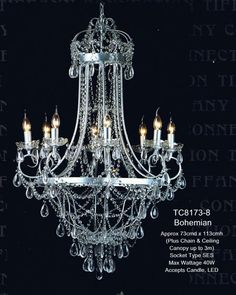Bohemian Chandelier 8 Light | Country Interiors