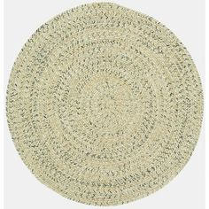 Capel Sea Pottery Sandy Beach Variegated Outdoor Area Rug Rug Size: Round 3'