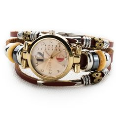 4eec16357e4d Women s Lady s Fashion Wrist Bracelet Watch Classic Golden Edge  Personalized Number Dial Gift