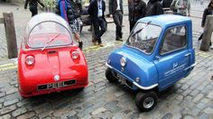 World's smallest production car gets a new lease on life... Originally manufactured in the 1960's and sold for approx. US $315, the world's smallest ever production car, the Peel P50 (right) and it's stablemate, the Trident (left) are getting a limited production run with updated powerplants. Designed to accommodate a single adult – and a shopping bag – only 50 of the original Peel P50s were produced and sold.