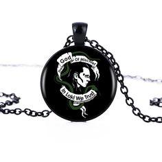 Loki God Of Mischief Pendant Necklace Handmade Resin Women Men Black