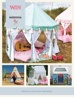 WIN over $2000 in playhouses, pavilions and teepees in our latest giveaway. Enter from anywhere in the world www.facebook.com/ToutMonAmour