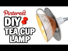 DIY Tea Cup Lamp - MAN VS PIN #2 Specifically: Drilling through china.