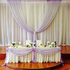 Лиловая свадьба в ресторане Спутник