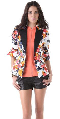 Thaikoon Blazer / Leather Shorts